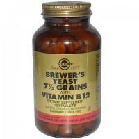 خميرة البيرة للتسمين Solgar, مع فيتامين ب ١٢