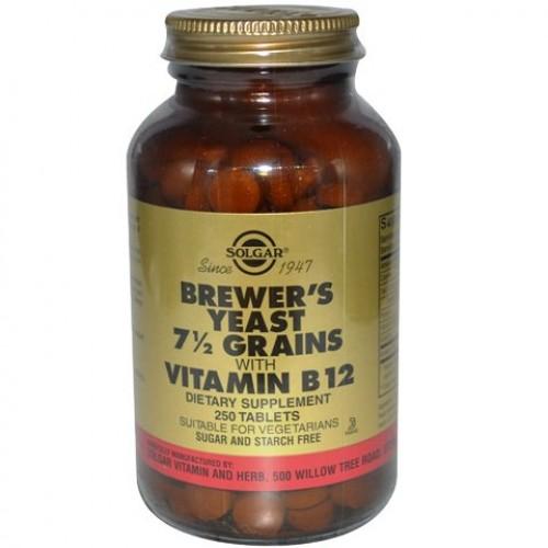 خميرة البيرة للتسمين Solgar مع فيتامين ب ١٢